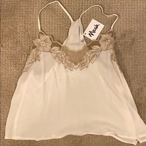 NWT Lush Embroidered tank